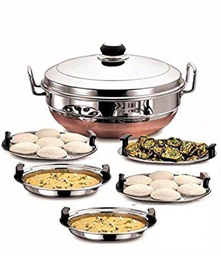 Zmatoo Stainless Steel Idli Stand And Idli Cooker Appliance For Wife 16 Idli