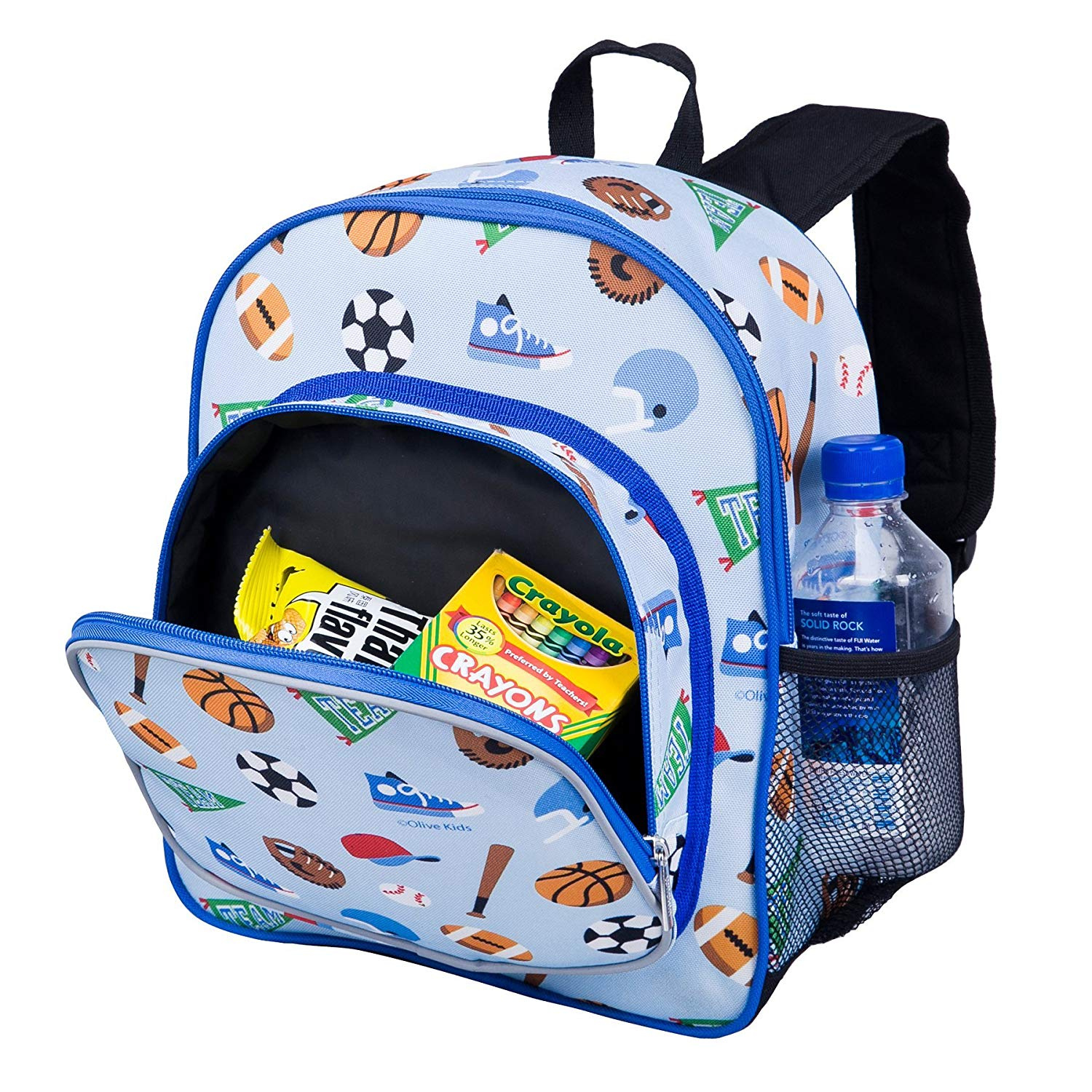 8d6f5d8a88c7 Wildkin 30cm Backpack, Includes Insulated, Food-Safe Front Pocket and Side  Mesh Water Bottle Pocket, Perfect for Preschool, Daycare, and Day Trips, ...