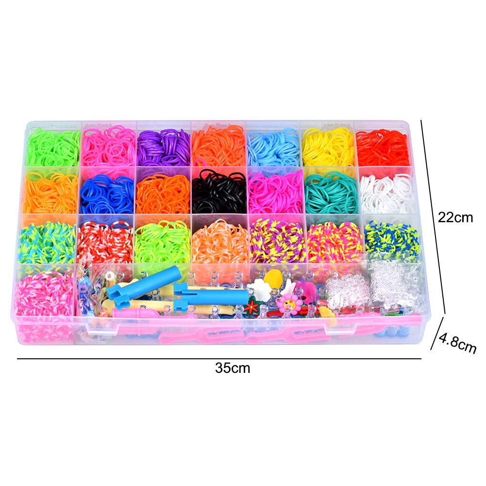 Towinle Loom Rubber Bands, Rainbow Loom Bands with Web Frames and Hooks DIY  Crafting Bracelet Weaving