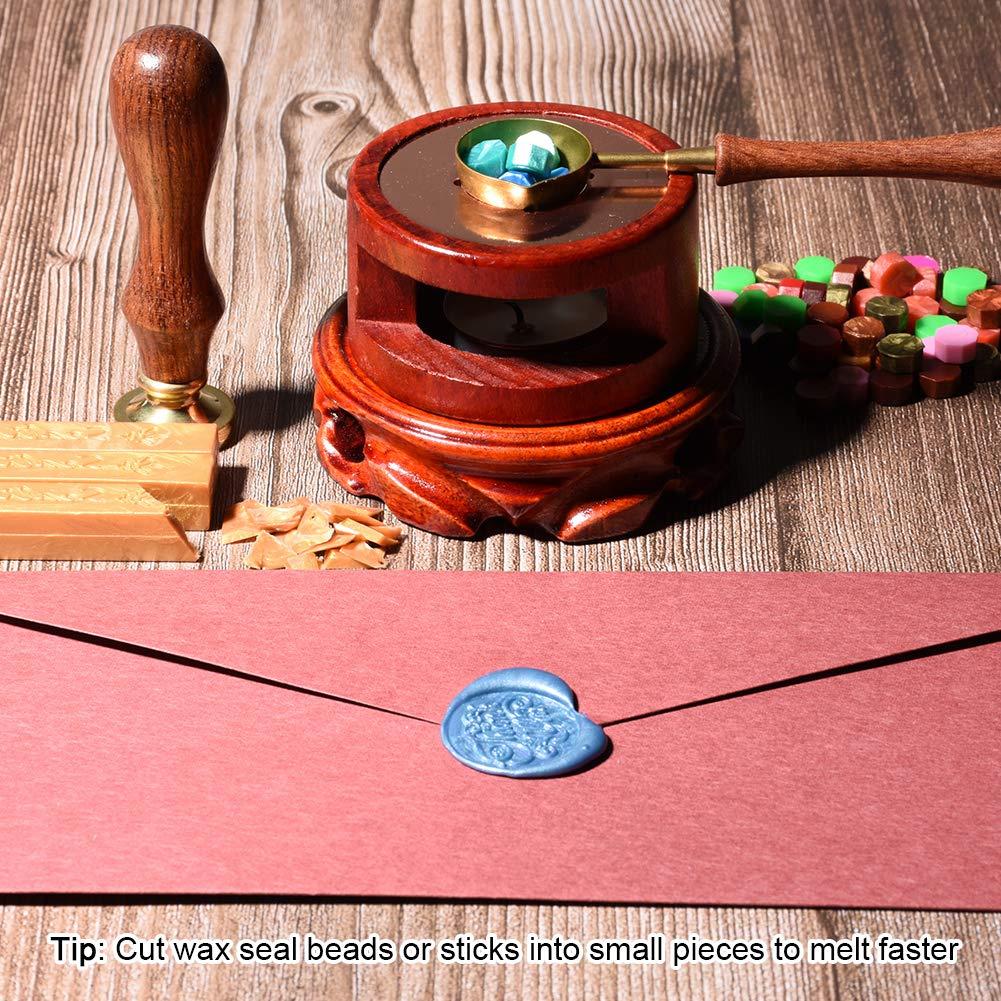 Wax Seal Spoon Holder for Wedding Wax Envelope Seal Stamp Wax Seal Warmer Wax Seal Stamp Set Sealing Wax Furnace Tool for Melting Wax Seal Beads or Sealing Wax Sticks