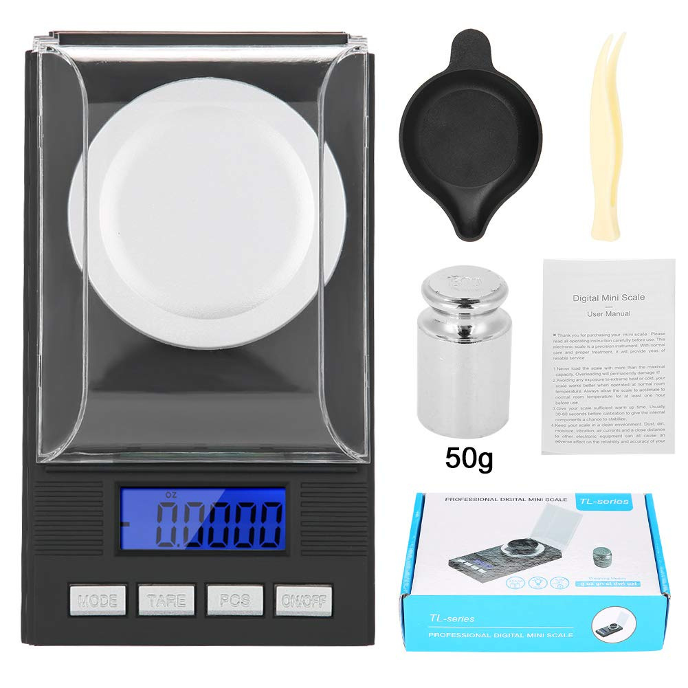 6f0677010752 Mini Pocket Gramme Scale, Digital Milligramme Jewellery Scale with  Calibration Weights Tweezers and Weighing Pans For Food Kitchen Scale with  Tare and ...