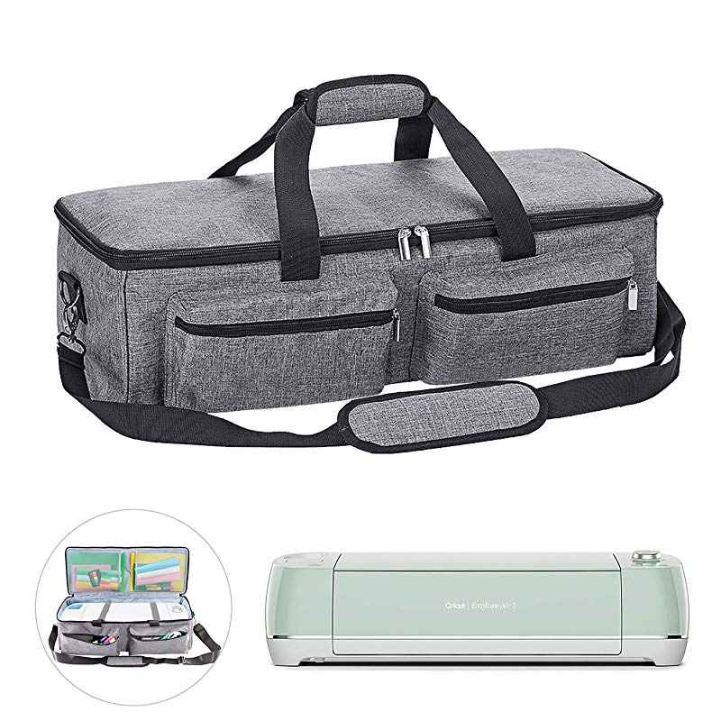 Sewing Machine Specific Bag GJB577 grey Heavy Duty Durable Tote Carrying Bag Supplies Accessories Foldable Bag Fit Cricut Explore Air 2 and Maker Cricut Storage Case