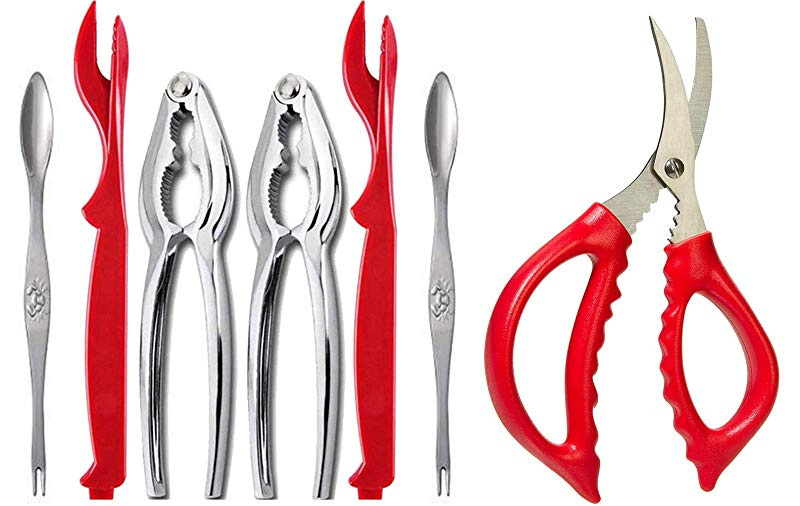 Stainless Steel Lobster Crab Cracker Shell Claw Seafood Fork Nuts Opener Gadgets