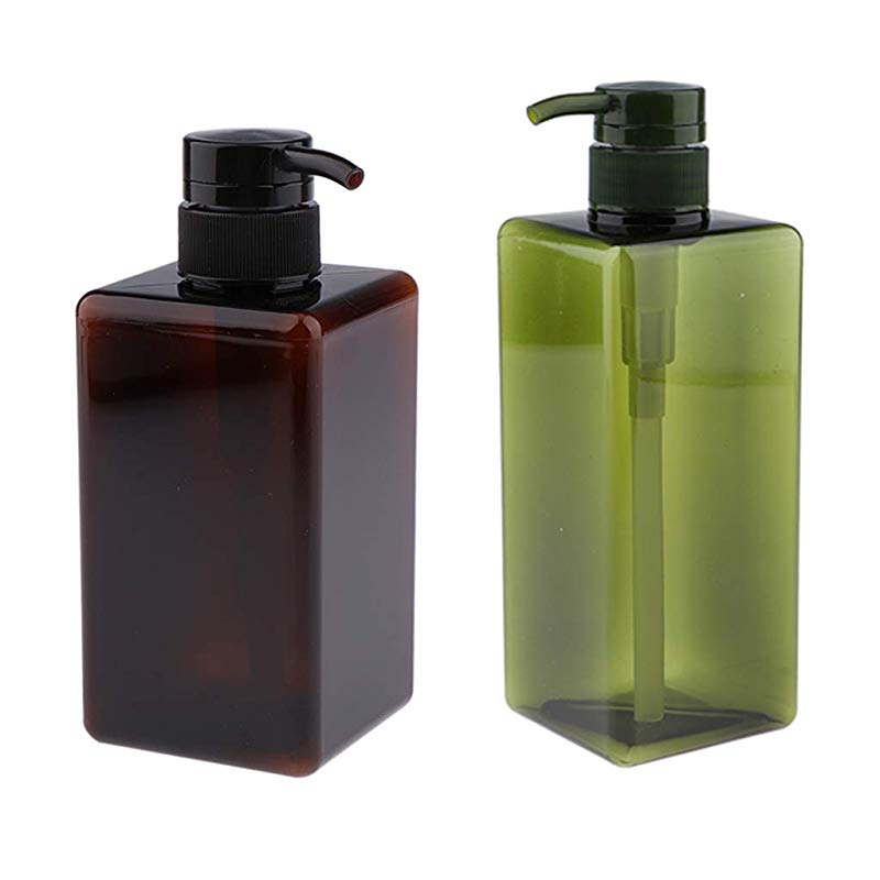 2479177c0583 perfeclan 2x Refillable Empty Pump Bottles Containers For Shampoo, Lotions,  Liquid Body Soap, Cream