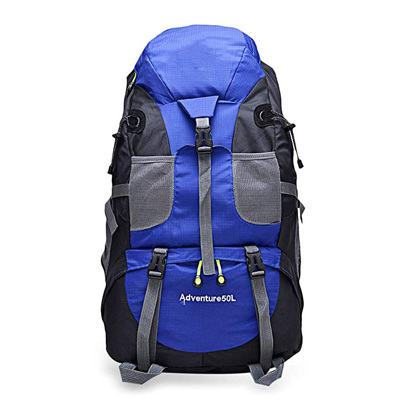 7176d8d5835d BENatural 50L Nylon Waterproof Backpack Outdoor Climbing Trekking Hiking  Rucksack Large Mountaineering Double Shoulder Bag
