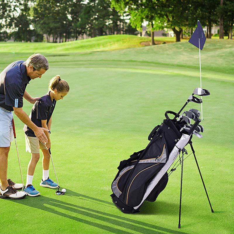 432dedf501ea Cozinest 23cm Golf Stand Bag Club 7 Way Divider Carry Organiser Pockets  Storage Black New
