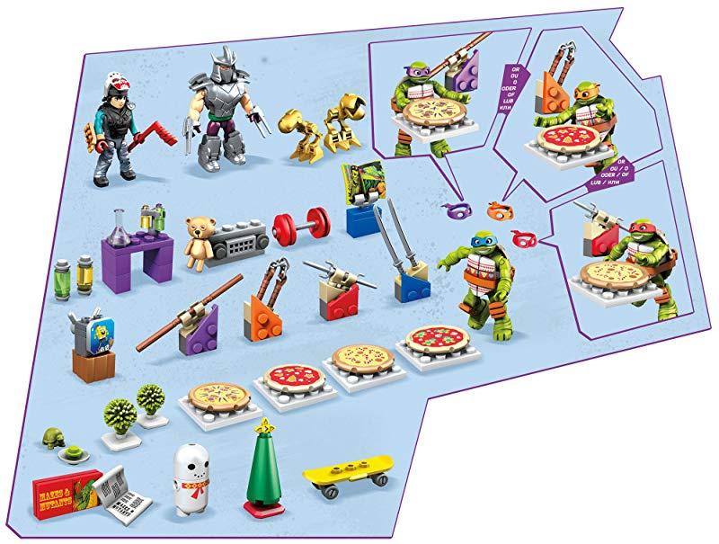 Teenage Mutant Ninja Turtles Xmas Advent Calendar Includes 158 Pieces Mega Bloks TMNT Toy