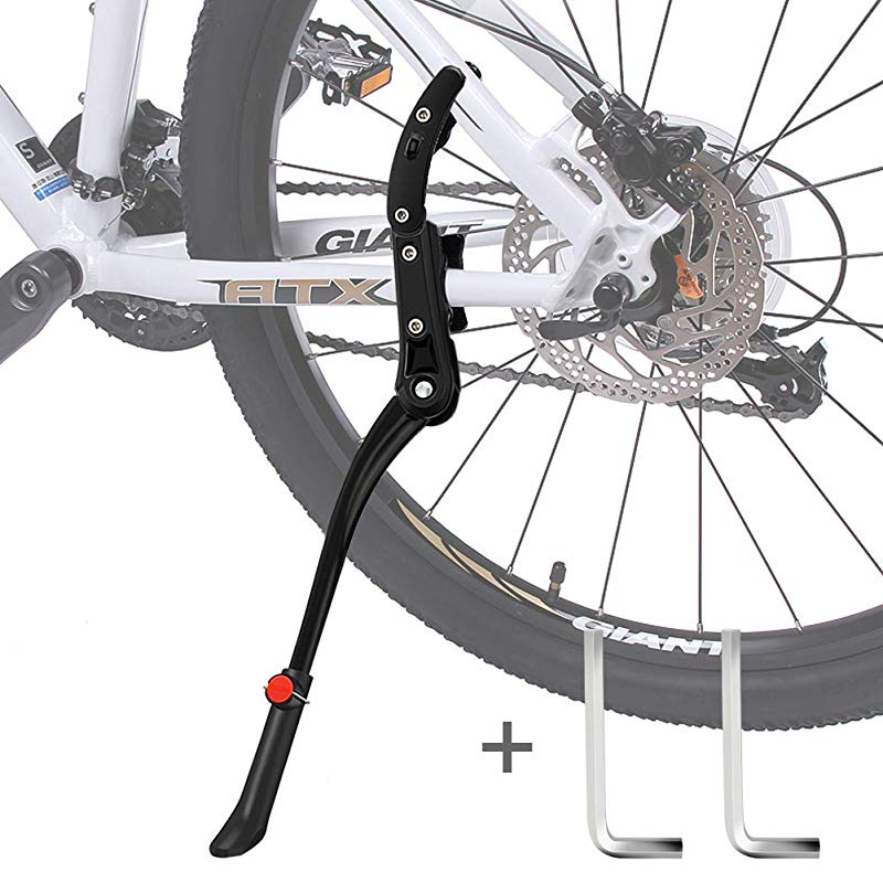 Durable Bike Stand made by Aluminum Alloy HENMI Bicycle Stand 4 cm Height Adjustable and Universal Kickstand