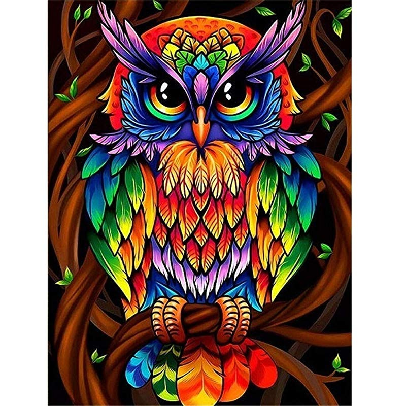 Diamond Painting Kits,VLikeze Astory DIY 5d Diamond Painting Kits Rhinestone Crystal Embroidery Pictures Cross Stitch Art Craft for Home Decor Partial Drill colorful Cat-30x40cm