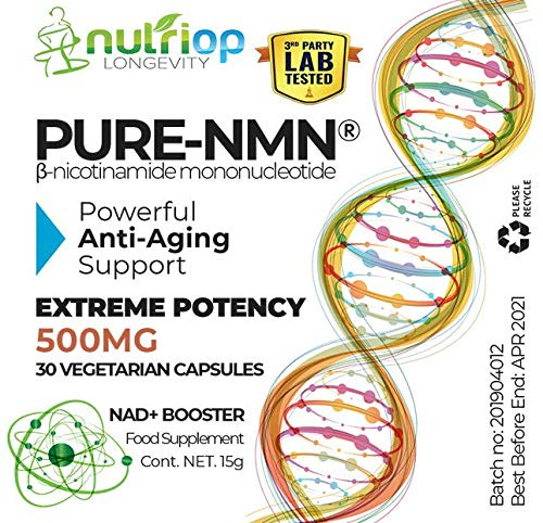Pure-NMN Nicotinamide Mononucleotide Extreme Potency 500mg Capsules