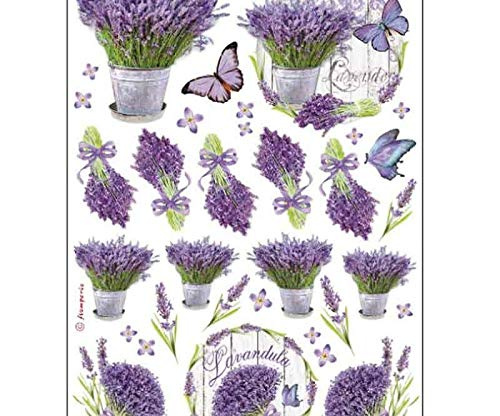 Stamperia Rice Paper Flowers and Butterflies 21 x 29.7 cm Multi-Colour
